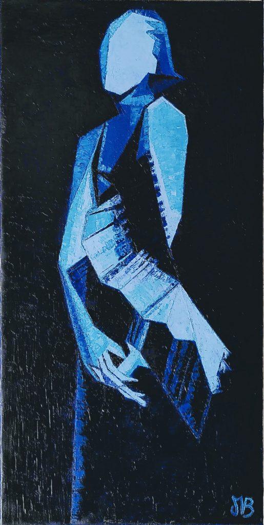 Hommage à Tamara, portrait de Tamara de Lempicka en bleu